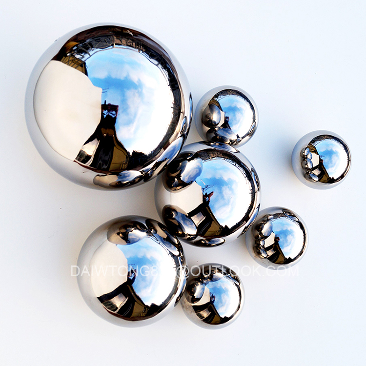 100mm 200mm Polished mirror Stainless steel hollow ball