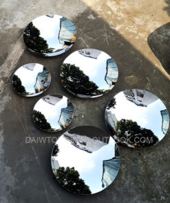 Modern Mirror Polished Stainless Steel Concave Disc