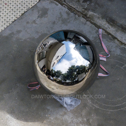 1000mm polished mirror stainless steel hollow sphere