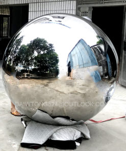 Outdoor City Public Metal Mirror Sphere Sculpture